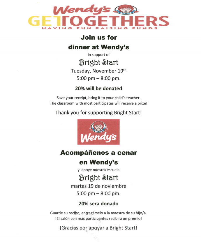 Bright Start Fundraiser!