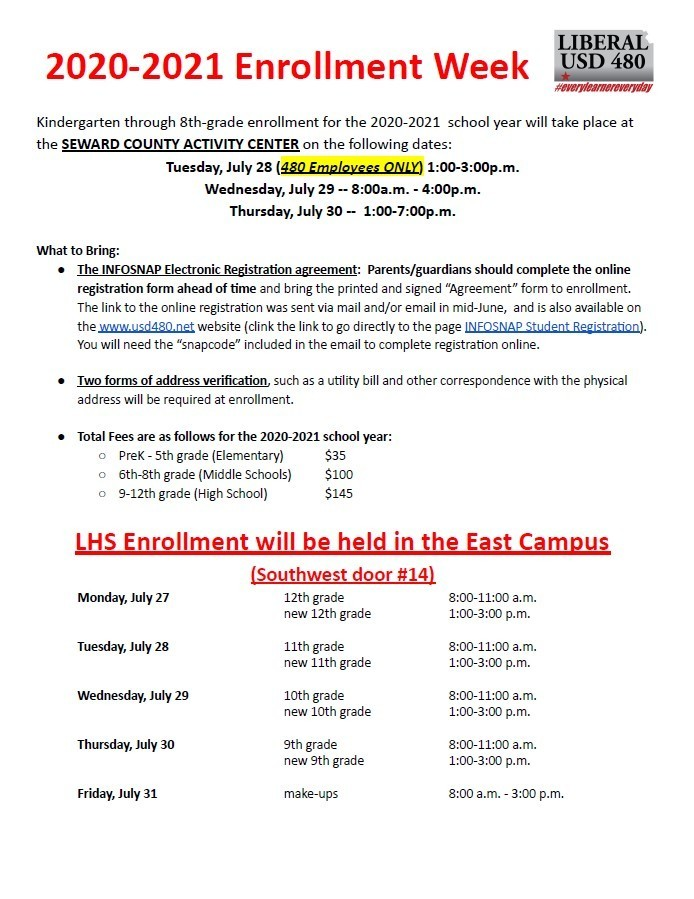 2020-2021 Enrollment Week