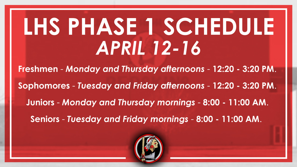 April 12-16 is Phase 1 Week at LHS