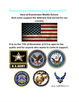 Nov. 11th: Veteran's Day Assembly