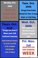 Don't Forget Red Ribbon Week begins Tomorrow!