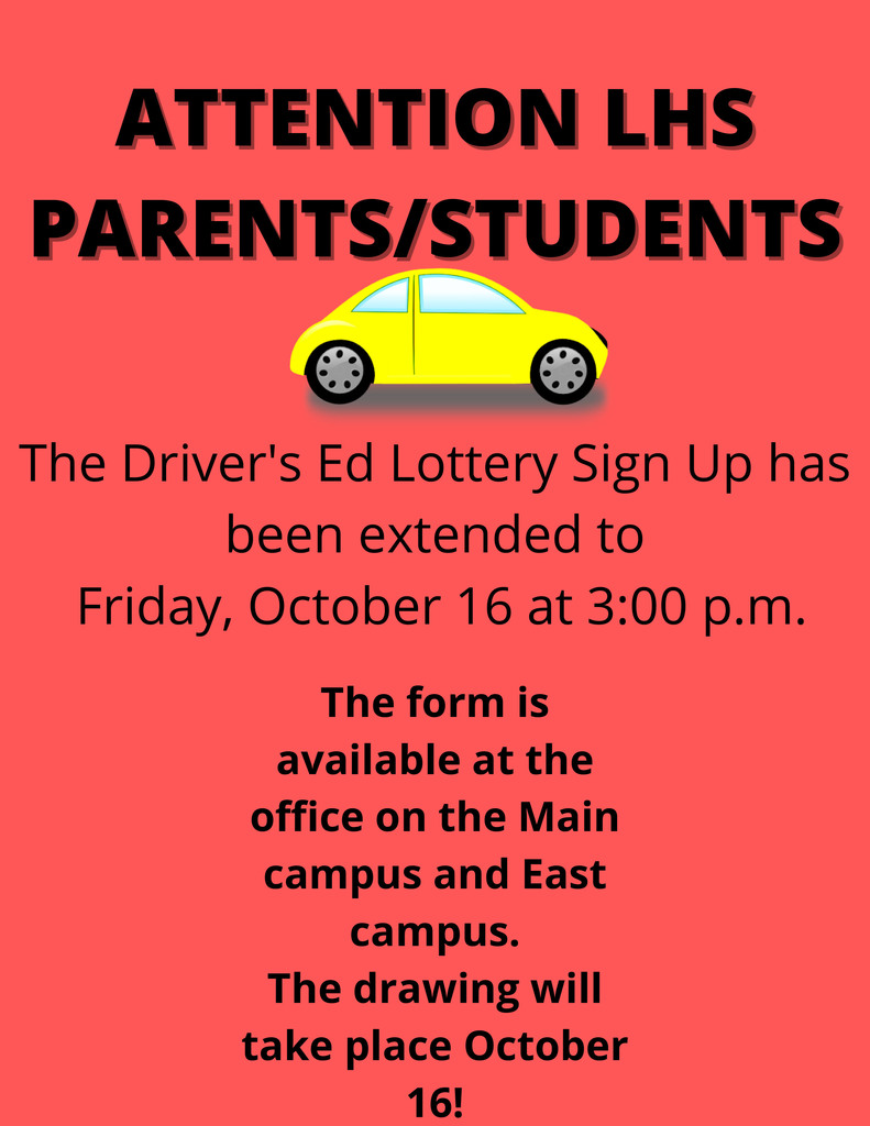 DRIVERS ED LOTTERY SIGN UP EXTENDED