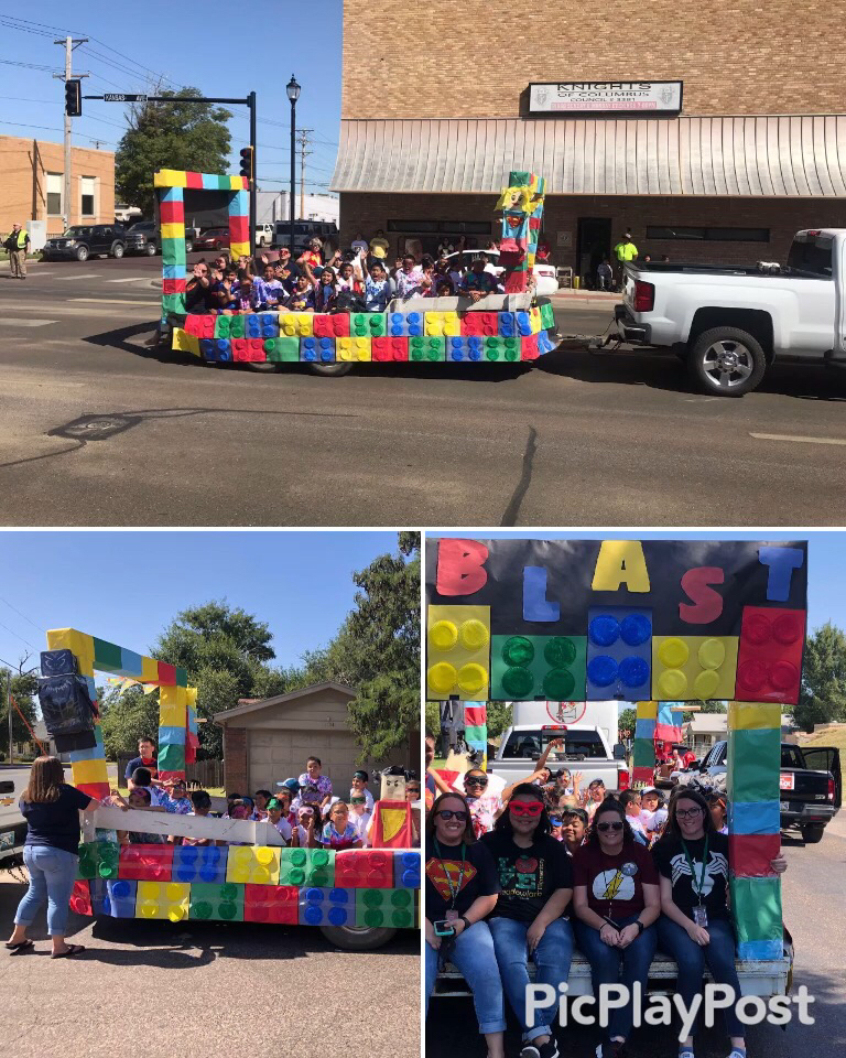 Float done by the after school program and teachers