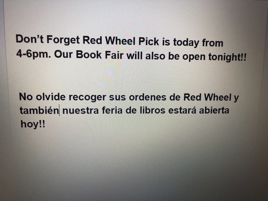 Don't forget, Red Wheel!