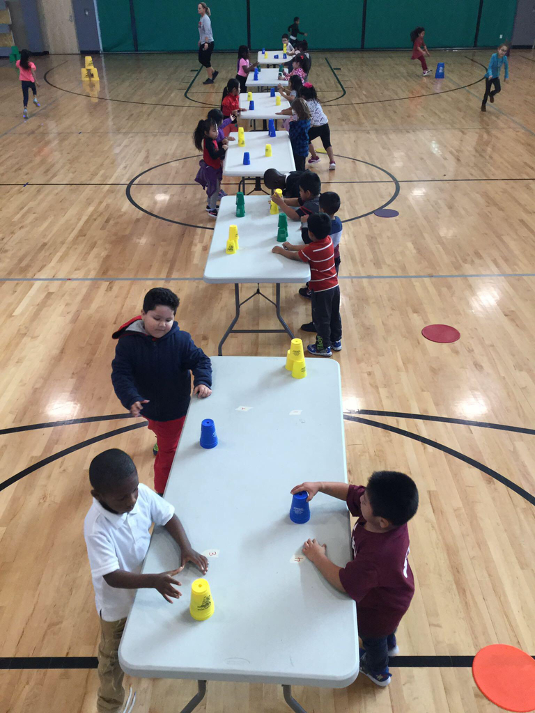 Cup stacking