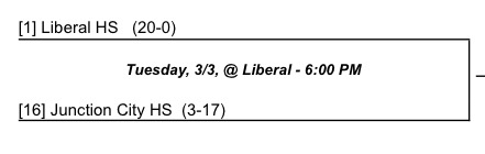 Liberal vs Junction City @ Liberal 6pm