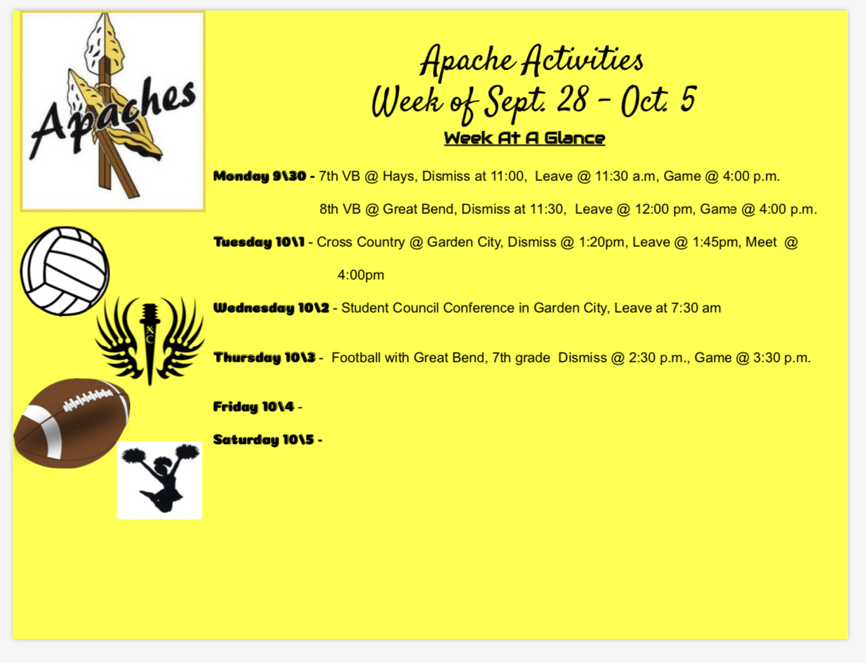 SRMS Activities Sept 28 - Oct 5