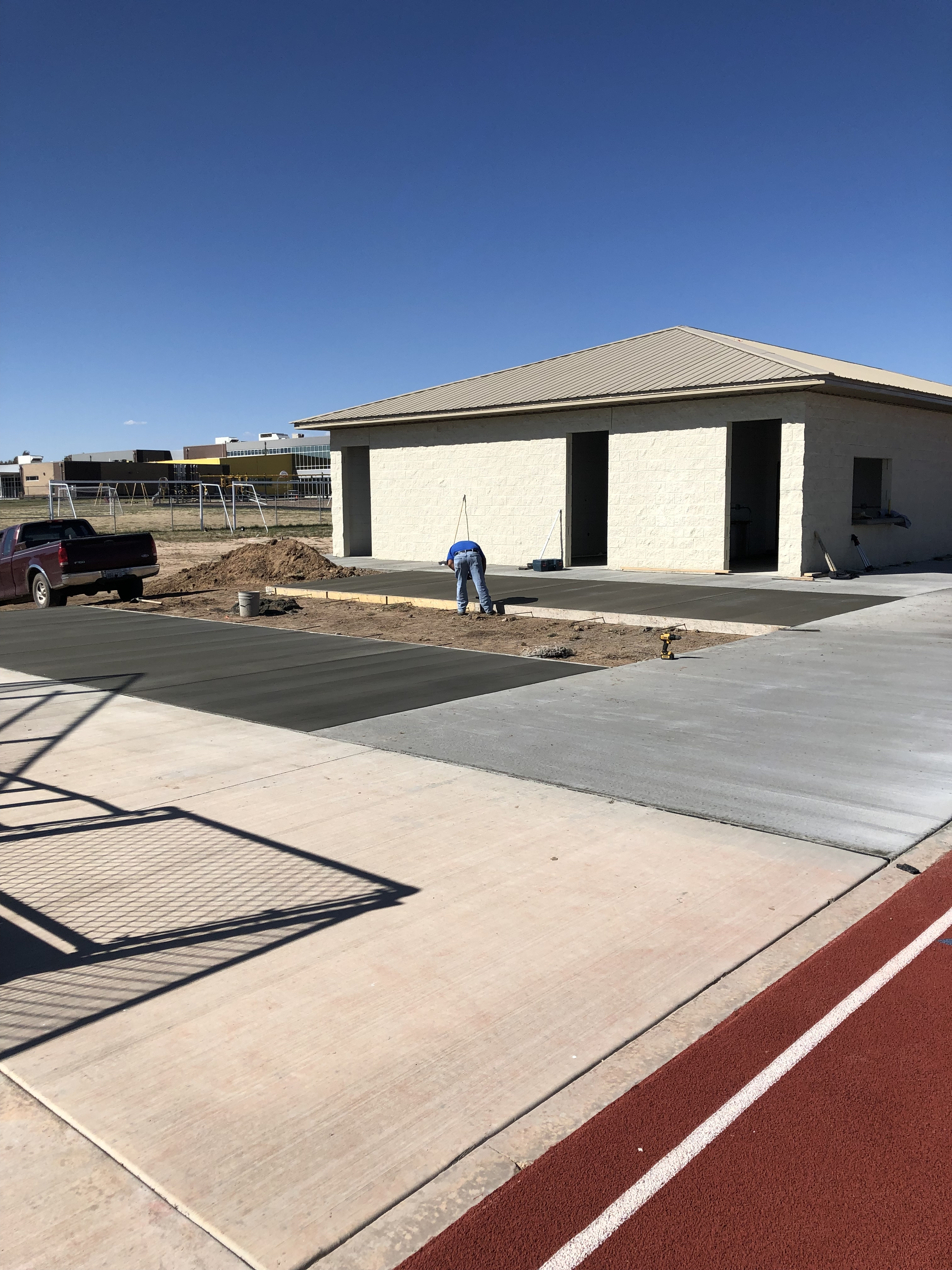 SRMS Apache Field-house coming along.  New cement added this week