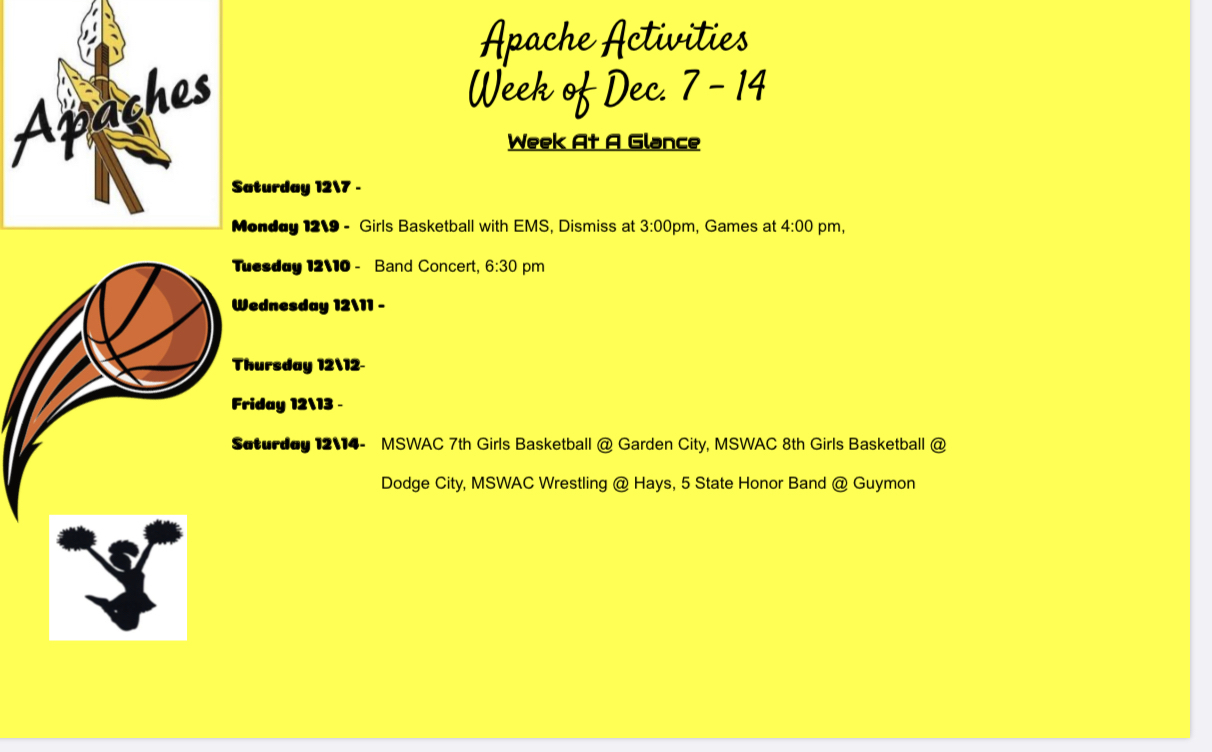 SRMS this week. Go Apaches!!!