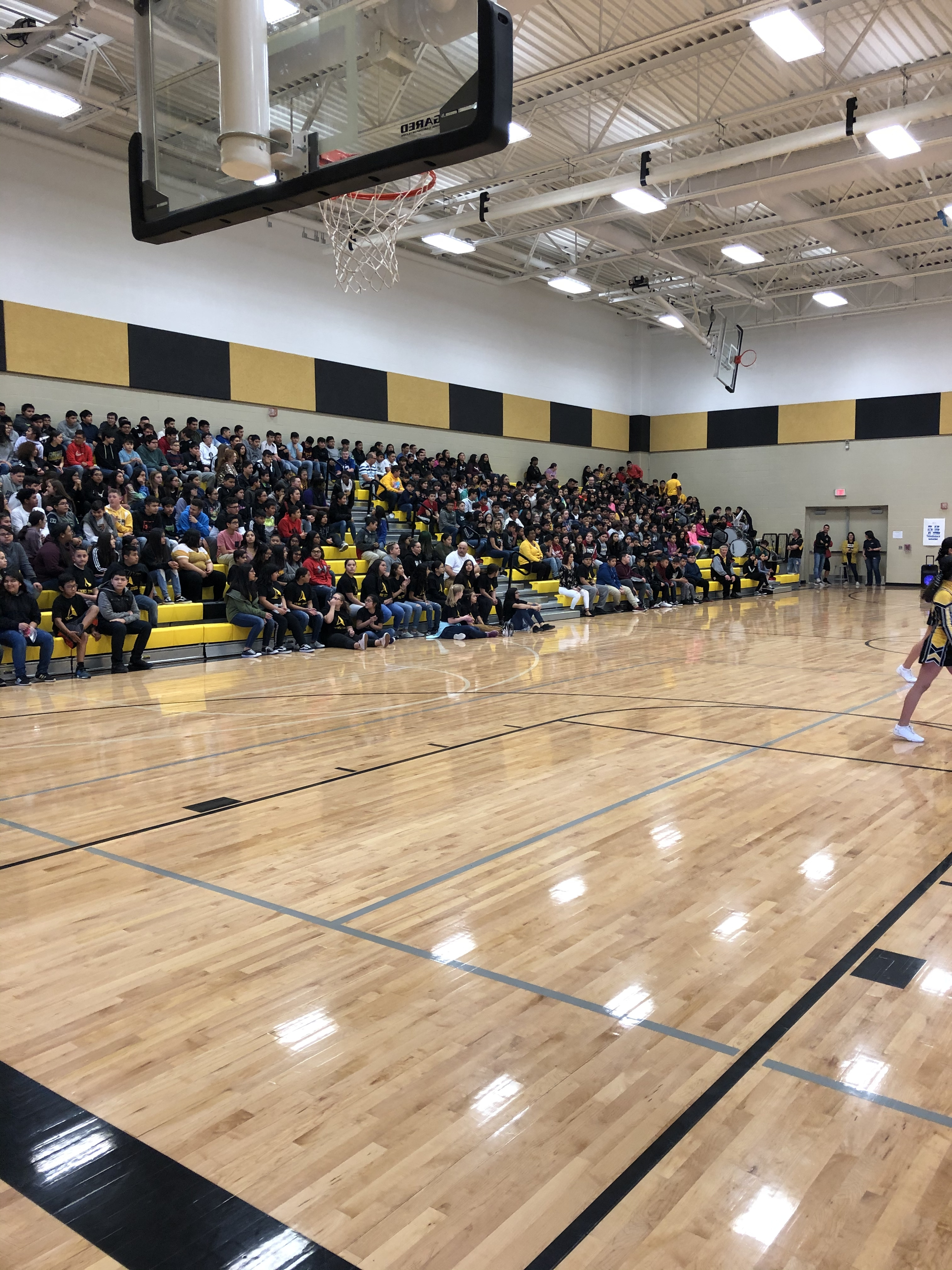 SRMS Pep Assembly!  Go Apaches!! 🖤💛