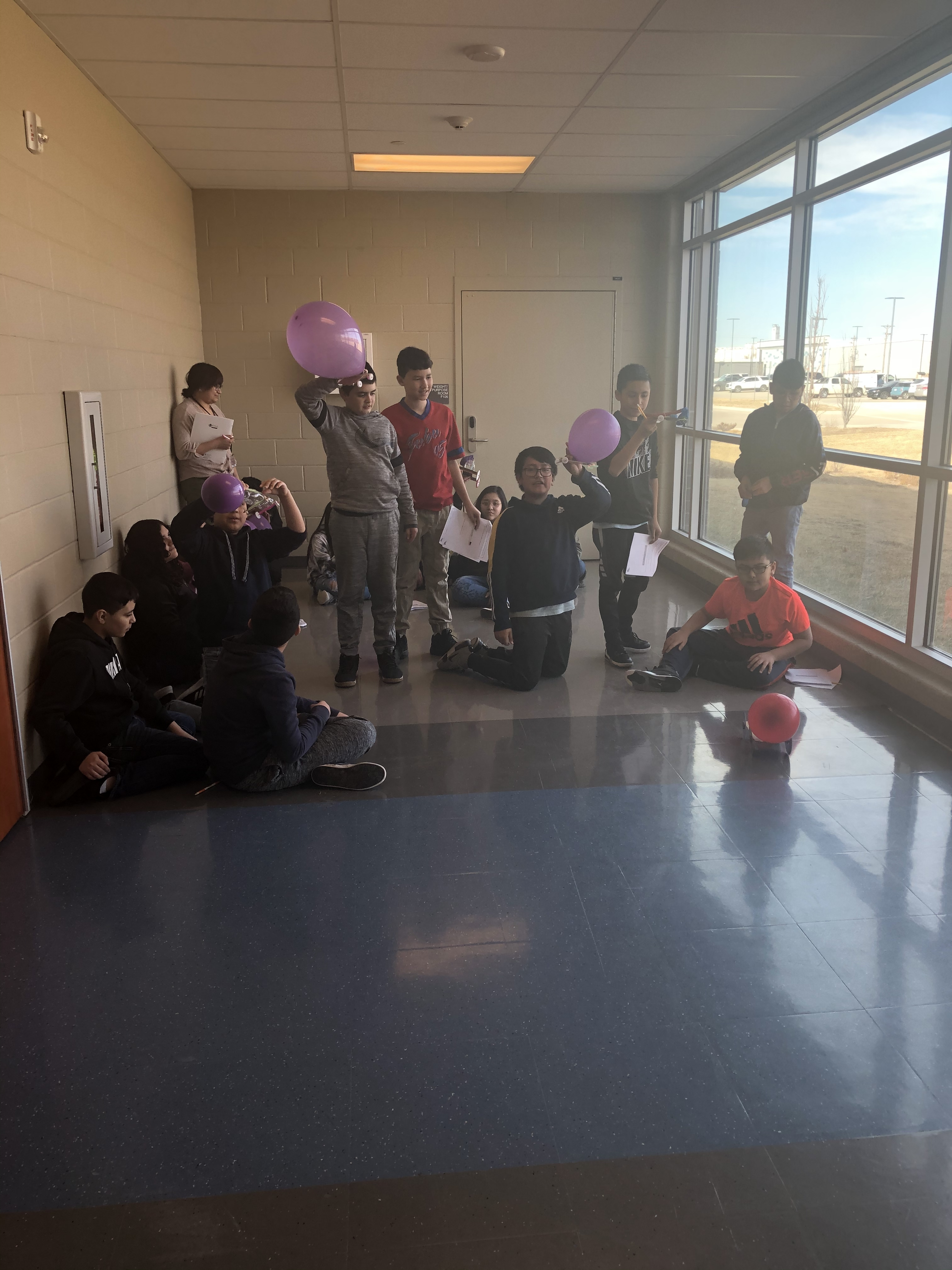 Mr Calleja's Science class Ballon cars to work on motion and forces